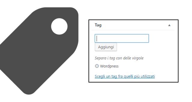Cosa sono i tag in wordpress e come usarli