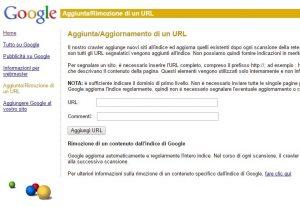 Come segnalare un nuovo URL sito web a Google prer velocizzare l'indicizzazione