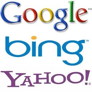 Motori di ricerca: Google, Yahoo, Bing