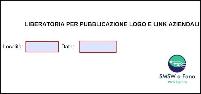 Liberatoria utilizzo marchio e logo azienda