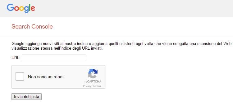 Segnalare nuovo URL nella search console Google