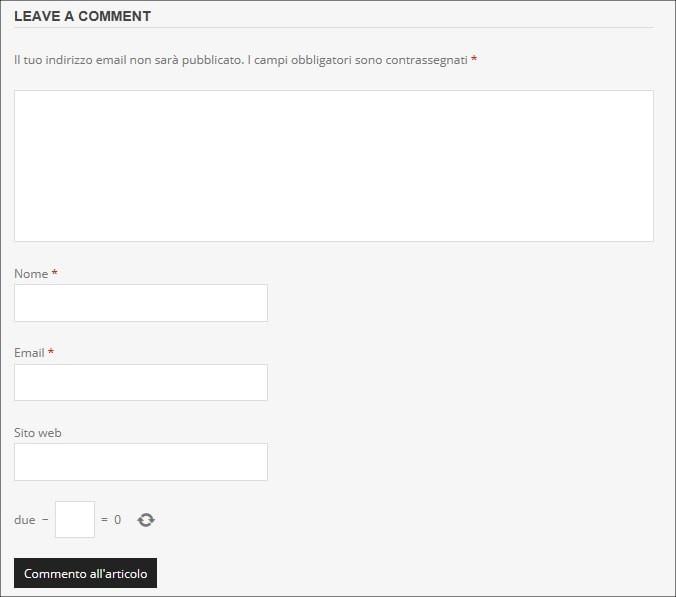 Aggiungere il captcha nei commenti su WordPress