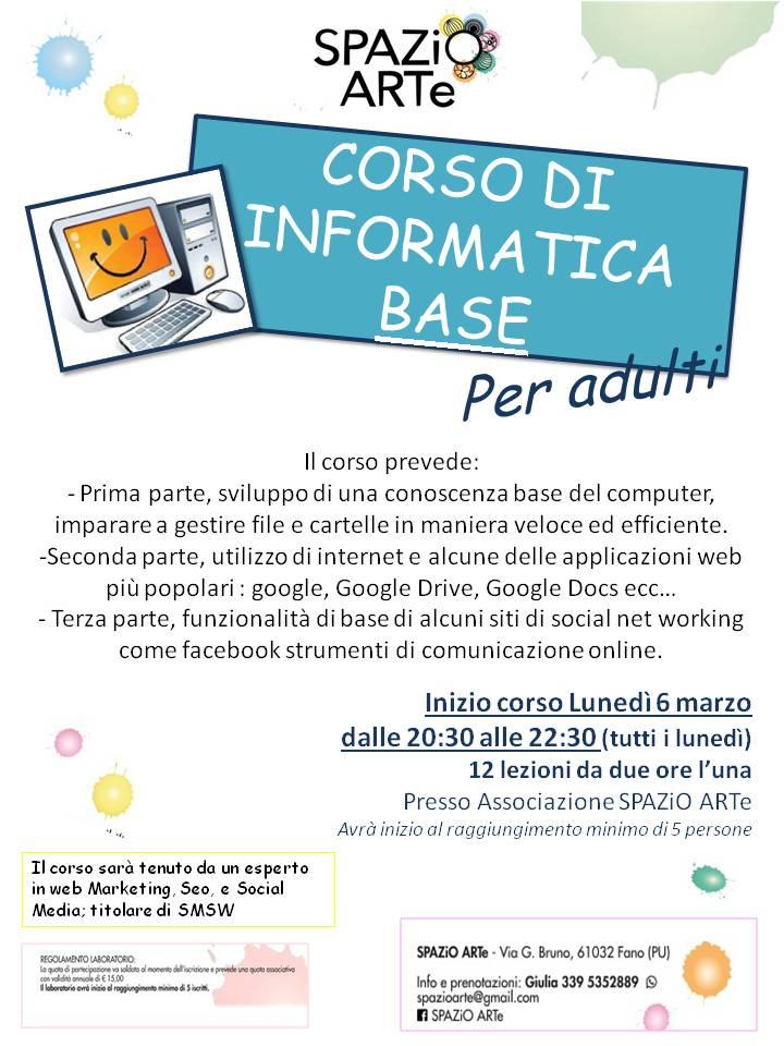 Corso base per computer a Fano, marzo 2017