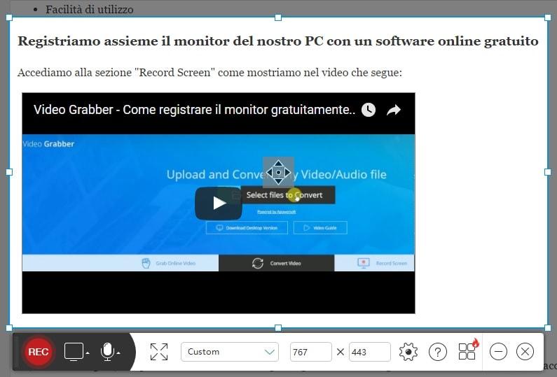 Registra il monitor del PC senza programmi