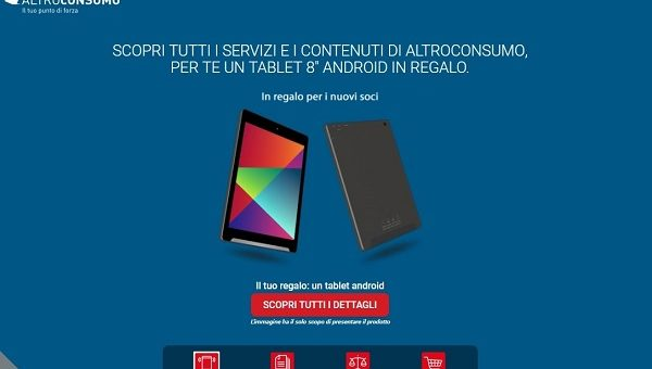 Smartphone android in regalo con altroconsumo tutto for Tutto in regalo