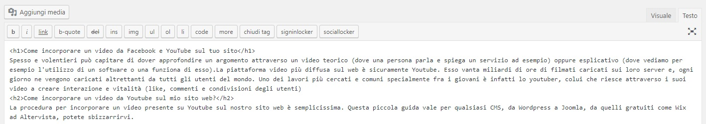 dove-incorporare-codice-html-video-wordpress