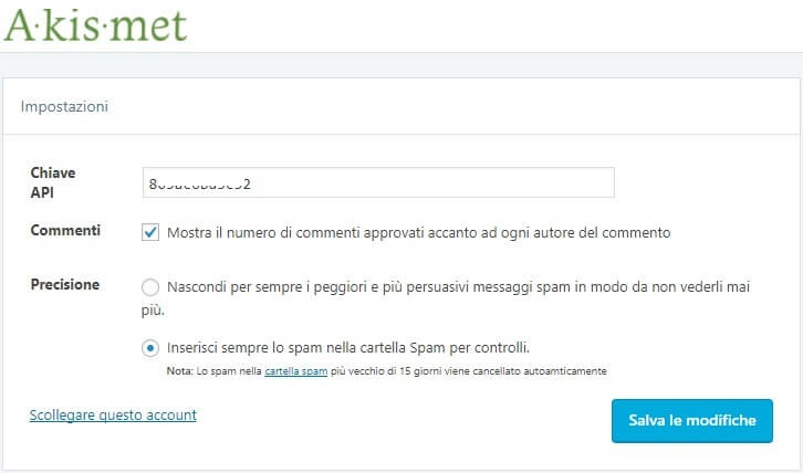 Dove inserire il codice api all'interno del plugin in WordPress