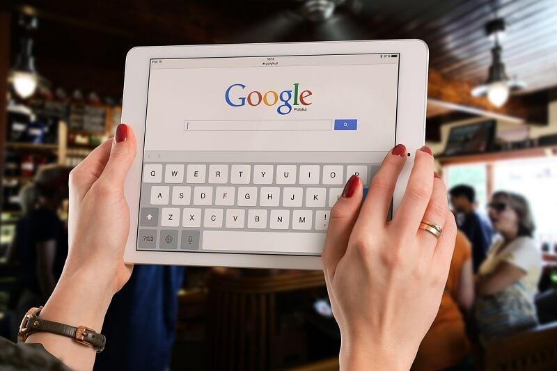 Ricerca su Google attraverso un iPad