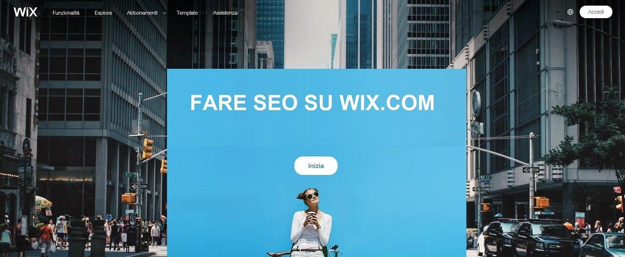 Fare SEO su Wix.com nel 2019