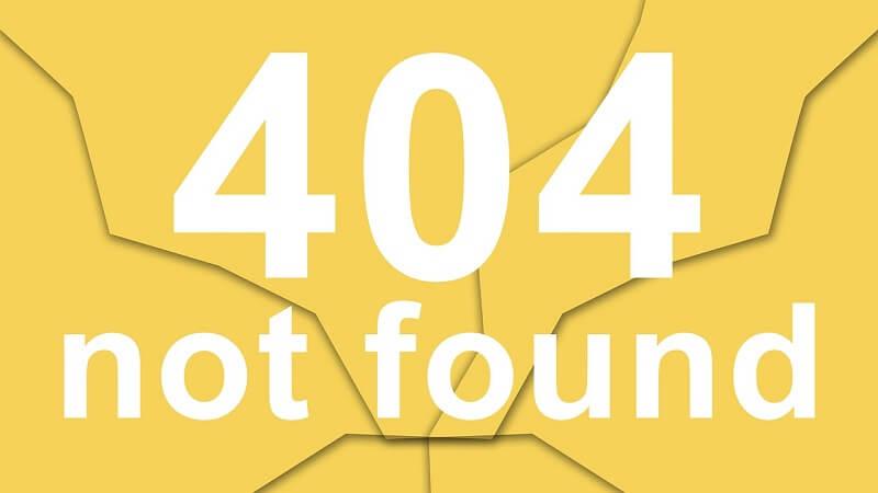 Error 404 not found - Come risolvere il problema