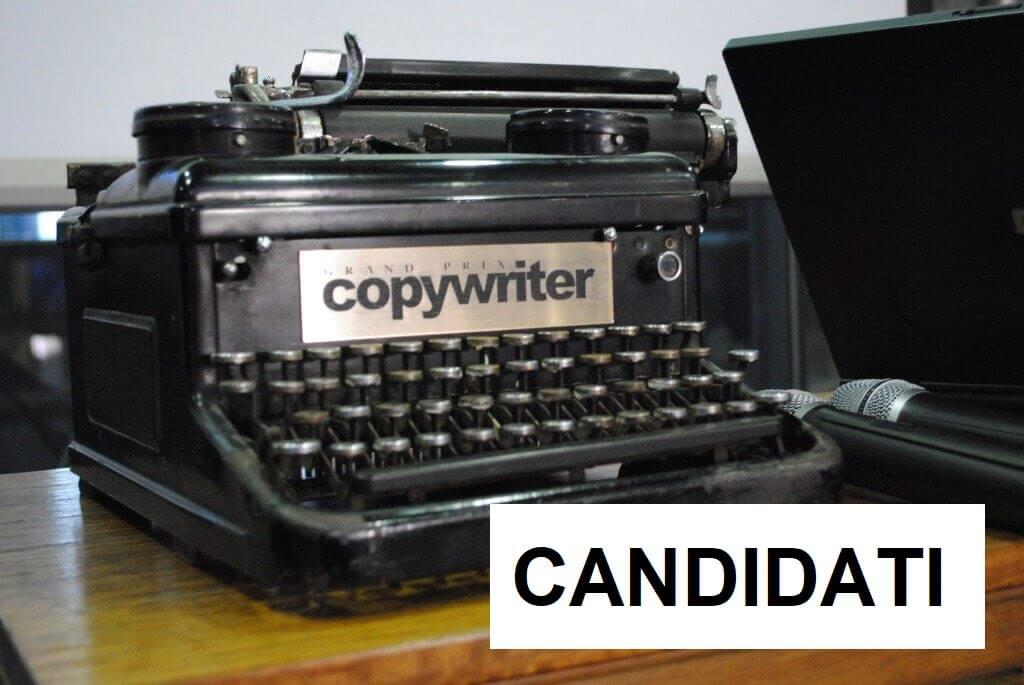 Candidati al lavoro come figura esterna di copywriter